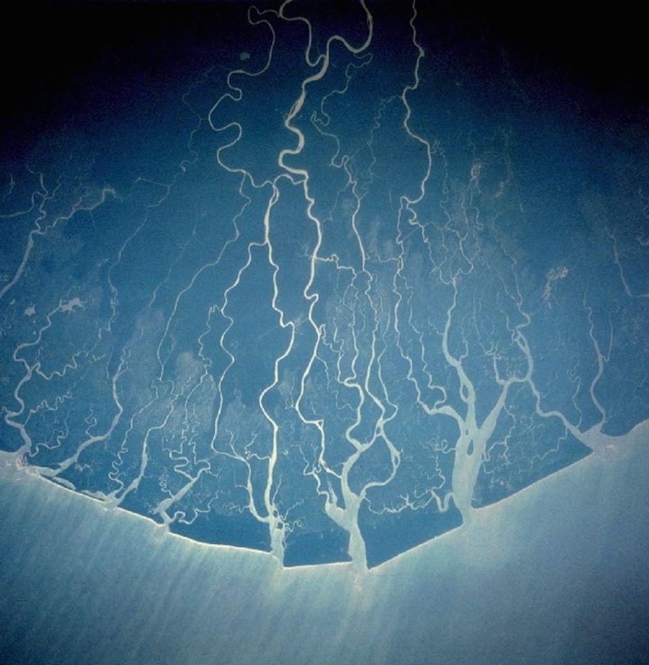 Laberinto del río Níger. Imagen de la NASA