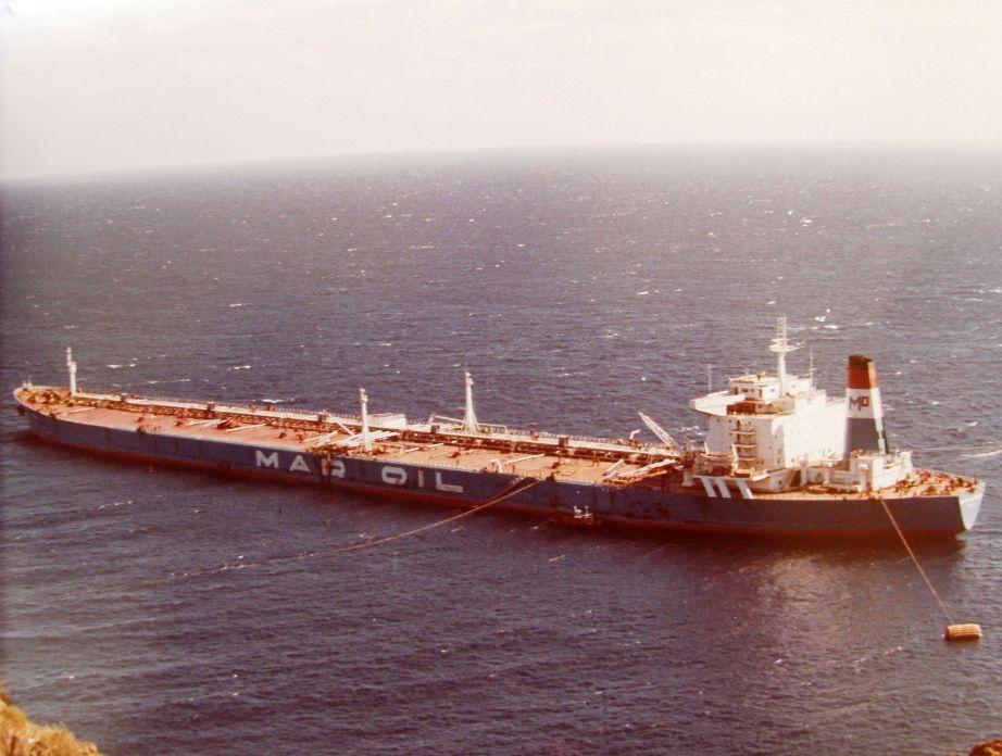 """El petrolero español """"María Alejandra"""" tuvo una corta vida"""