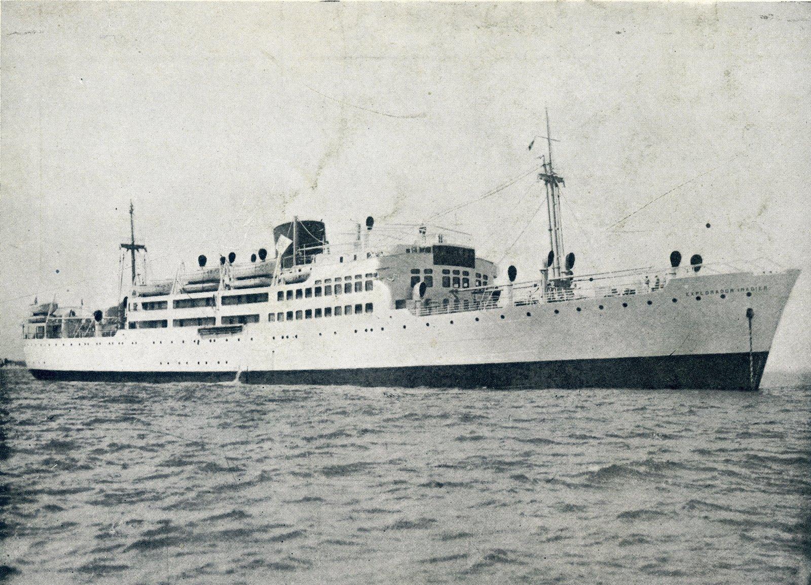 """Estampa marinera del buque """"Explorador Iradier"""""""