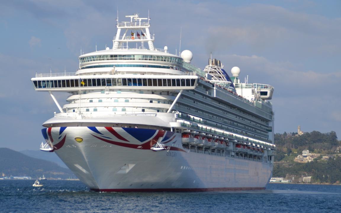 """Ha sido la primera ocasión en la que el buque """"Ventura"""" llega a Vigo con su nueva imagen"""