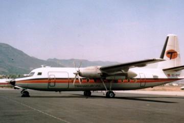 Fokker F-27 matrícula EC-BOC de Transeuropa