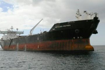 """El petrolero """"Fortaleza Knutsen"""", fondeado esta mañana en Santa Cruz de Tenerife"""