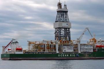 """El buque """"Ocean Rig Apollo"""" conoce su primera parada, que se presume larga"""