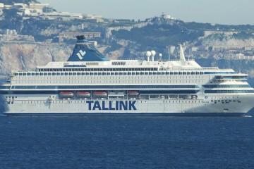 """El buque """"Silja Europa"""", en Algeciras, a su regreso de Australia"""