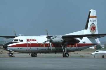 """Fokker F-27 de Iberia matrícula EC-BMT """"Río Tajo"""""""