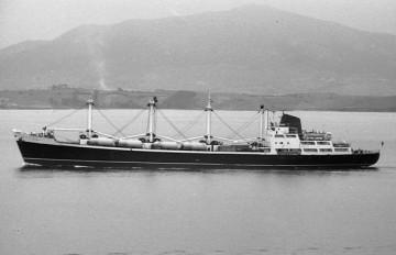 """Estampa marinera del buque """"Coromoto"""", de Compañía Trasatlántica Española"""