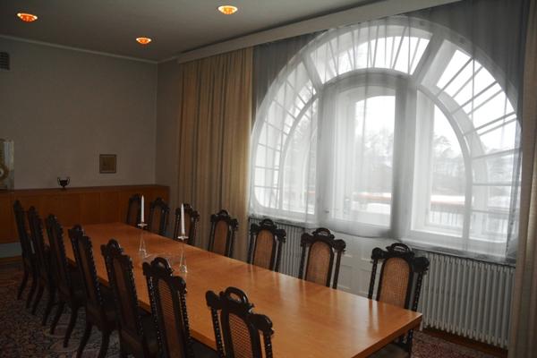 Comedor principal de Tamminiemi, escenario de importantes encuentros