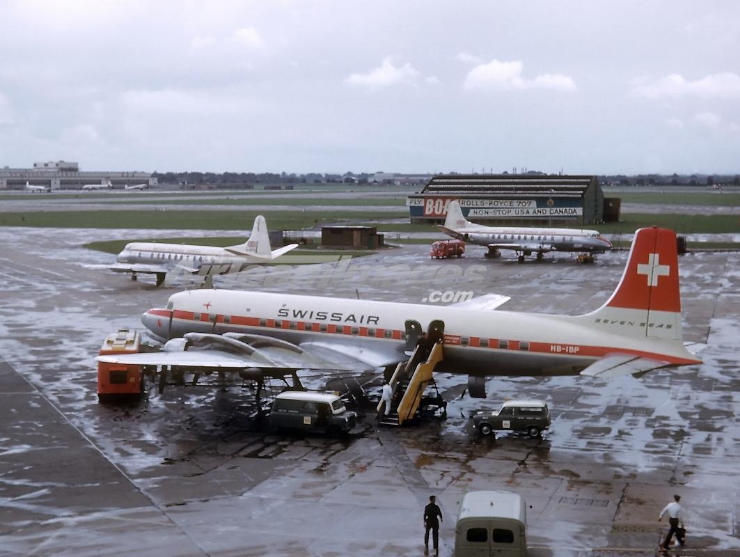 El avión Douglas DC-7C, en su primera etapa con Swissair