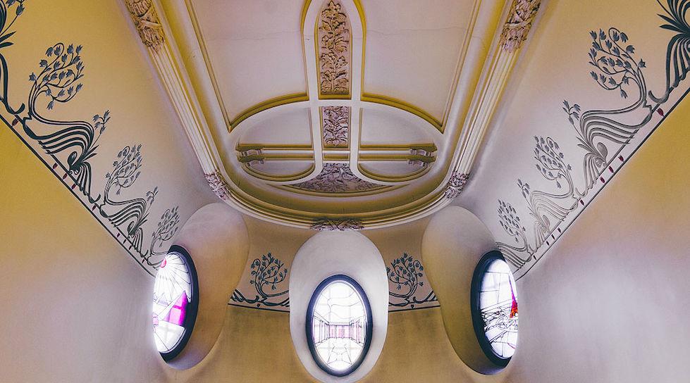 Detalle de la decoración interior del hotel Torni