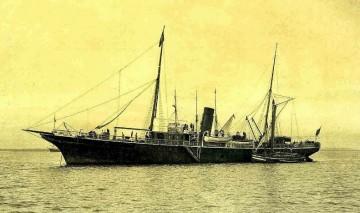 """Estampa marinera del buque """"Joaquín del Piélago"""", primero construido en el astillero de Matagorda"""