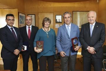 De izquierda a derecha, José Rafael Díaz, Rafael Rolo González, Sherri Wood, Juan Riva y Ricardo Melchior