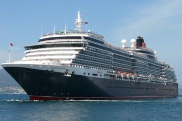 """El buque """"Queen Victoria"""", a su salida de Vigo"""