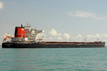 """Estampa marinera del """"bulkcarrier"""" """"Castillo de Navia"""""""