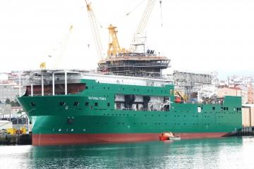 """Esta es la imagen externa del buque flotel """"Reforma Pemex"""""""