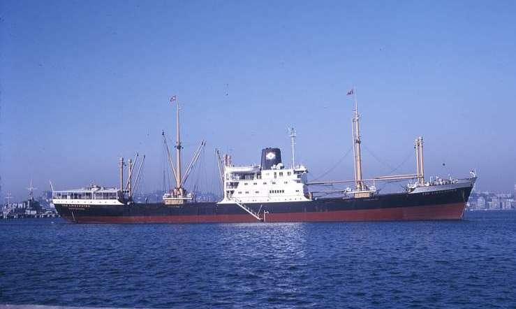 Así era la estampa marinera de los cuatro buques de la serie V de KPM