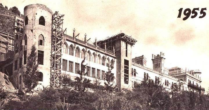 Estado de las obras de ampliación en 1955