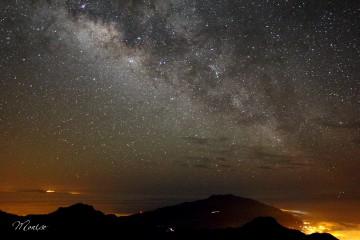La Vía Láctea, fotografiada desde el Roque de los Muchachos
