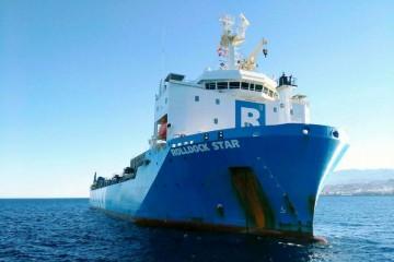 """El buque """"RollDock Star"""", fondeado en aguas de Santa Cruz de Tenerife"""