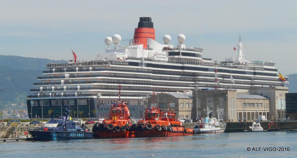 Cunard Line es un visitante asiduo del puerto de Vigo