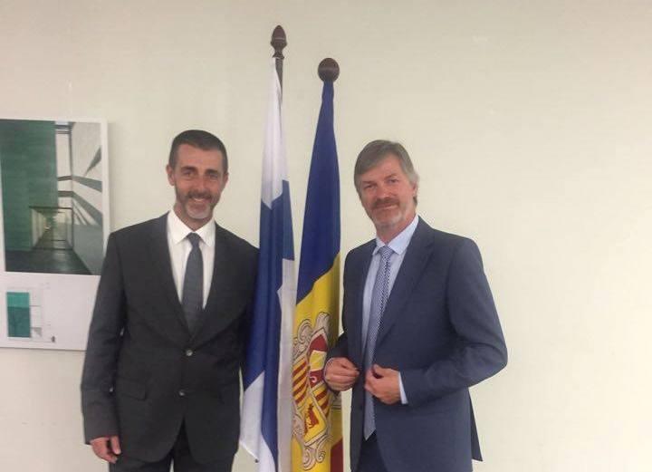 Antoni Mas Pintat y Albert Ginjauma, cónsul general honorario en Barcelona