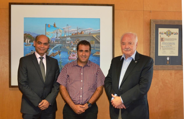 Satya Veermalla, Jonathan Pérez y Ricardo Melchior, en el encuentro de esta semana