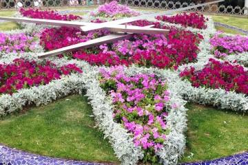 """El reloj de flores del parque """"García Sanabria"""" fue donado en 1958 por el cónsul Larsen"""