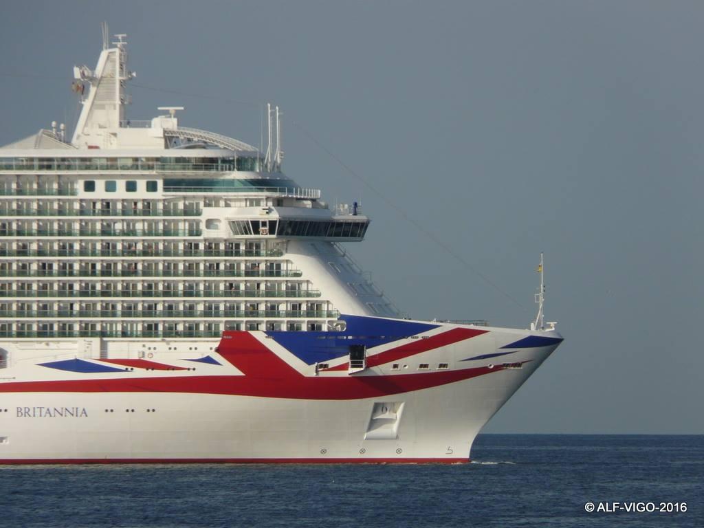 """La Union Jack, pintada en la proa y amuras del buque """"Britannia"""""""
