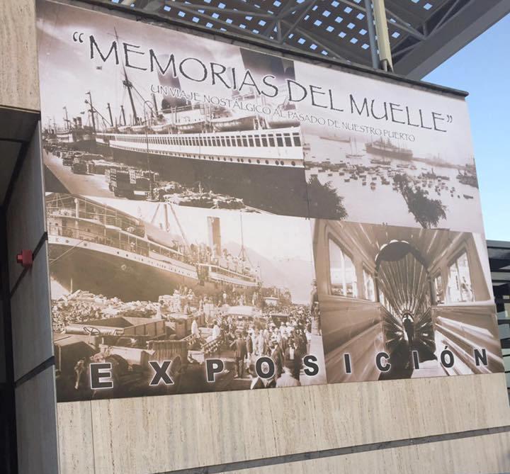 La exposición está situada en la antigua estación del jet-foil