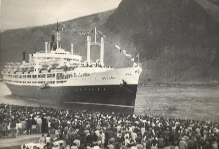 La llegada del barco a La Palma fue un acontecimiento relevante