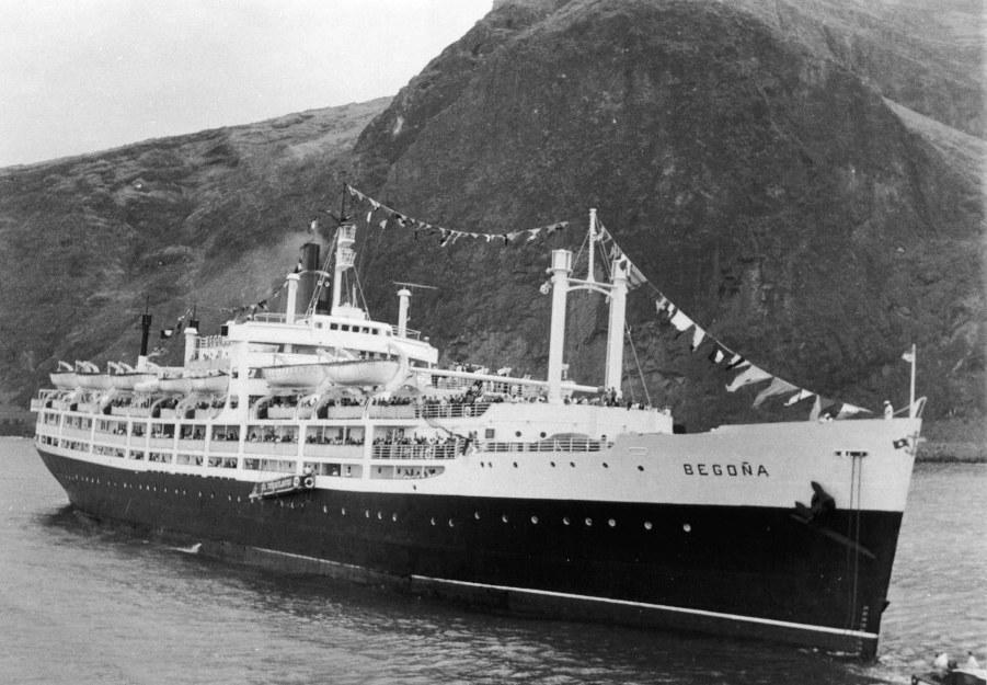 """El trasatlántico """"Begoña"""" viajó directo de La Guaira a La Palma"""
