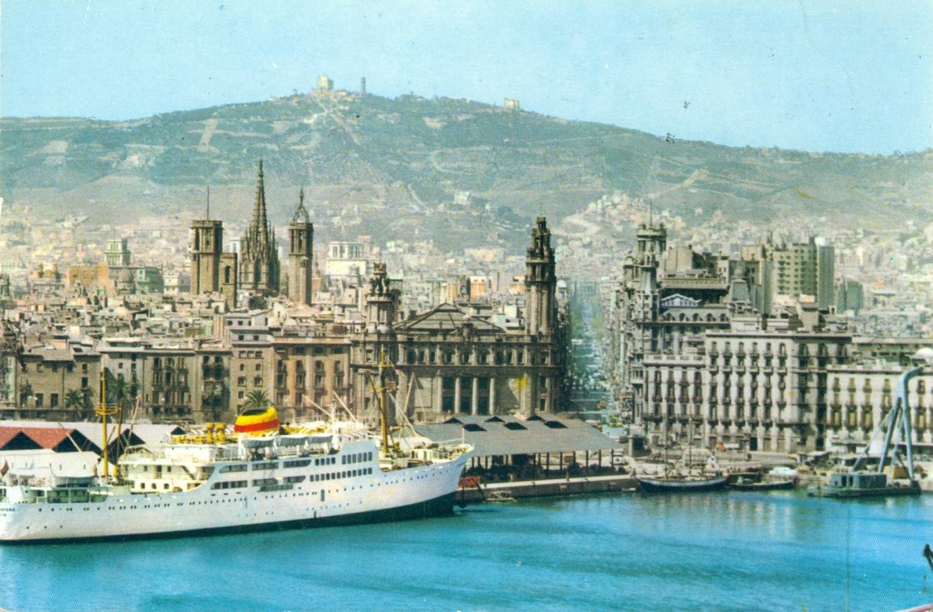 Barcelona fue el puerto de cabecera de la línea de Canarias