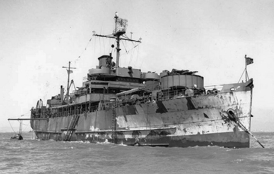 """Transformado en el minador """"USS Monadnock"""" (ACM-10)"""