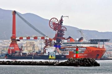 """Este es el imponente aspecto del buque cablero """"Lewek Constallation"""""""