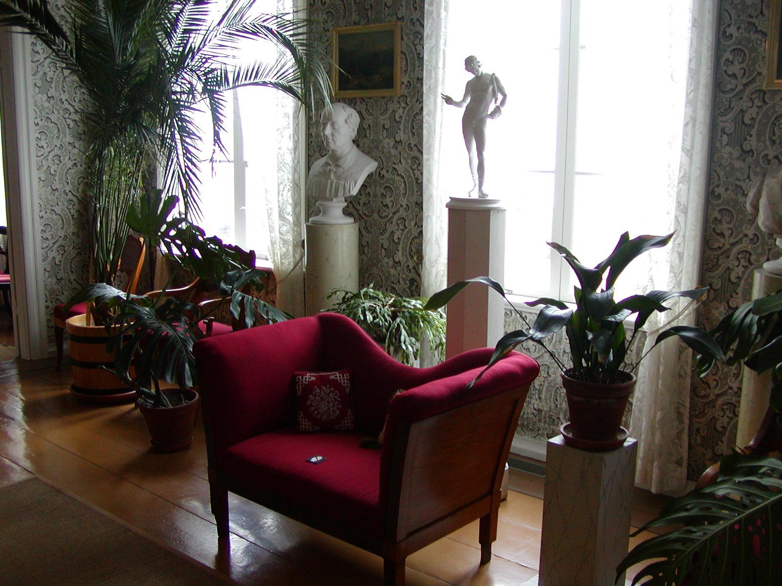 Una de las estancias de la casa museo de J.L. Runeberg