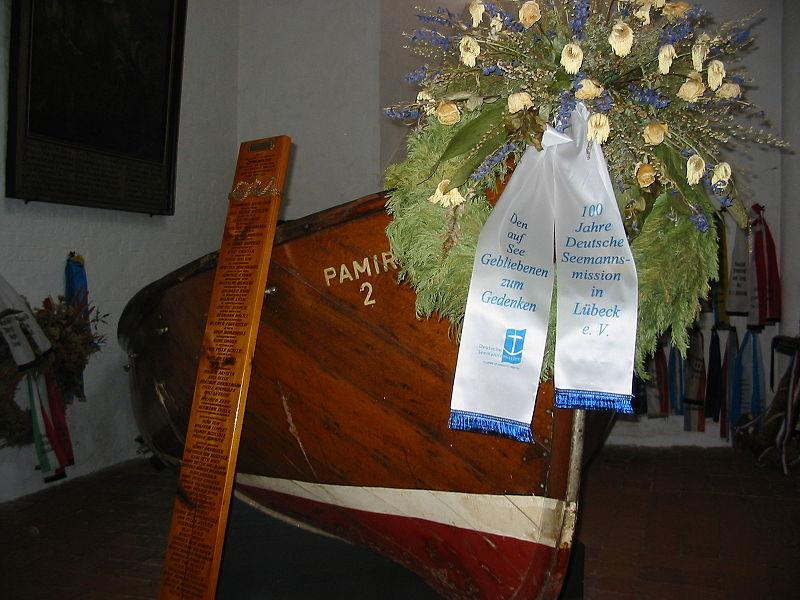 Memorial al velero Pamir en la iglesia de San Jacobo en Lubeck