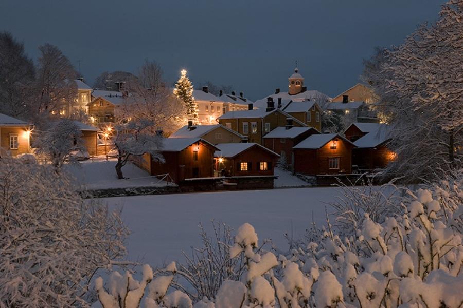 El invierno finlandés deja en Porvoo imágenes idílicas como ésta