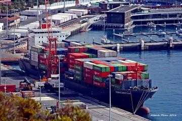 """El buque """"Nordcheetah"""", en su primera escala en La Palma"""