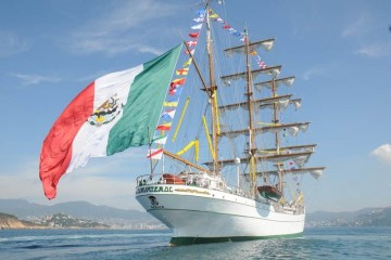 """El buque-escuela  """"Cuauhtémoc"""", extraordinario embajador de México"""