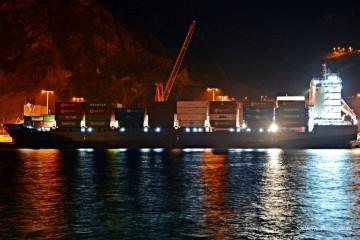 "El buque ""Nordluchs"" llegó de madrugada al puerto de Santa Cruz de La Palma"
