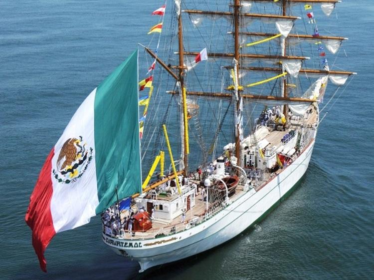 El buque-escuela mexicano es de factura española, construido en Astilleros Celaya
