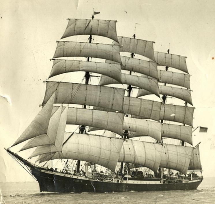 """El velero """"Pamir"""" pertenecía a la poderosa compañía alemana F. Laeisz"""