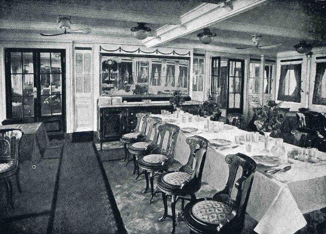 """Cámara de primera clase del buque """"Santa Isabel"""""""