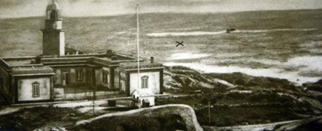 """Lugar donde ocurrió  el naufragio (marcado con una x) del buque """"Santa Isabel"""""""