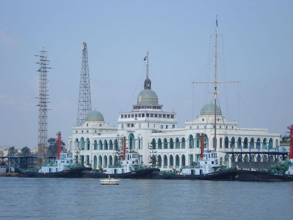 Sede de la Autoridad Portuaria del Canal de Suez, en Port Said