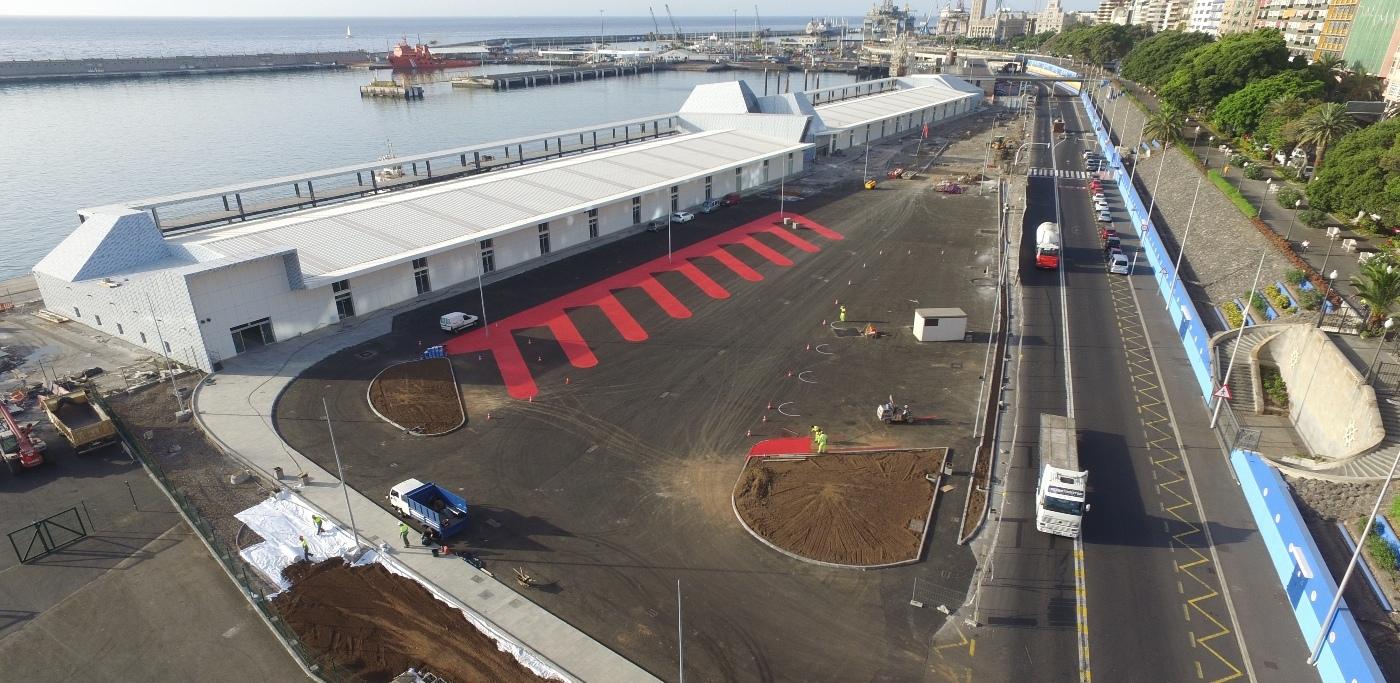 Panorámica de la urbanización de la nueva terminal de cruceros