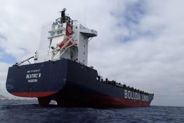 """El buque """"Beatriz B"""", en la zona de fondeo del puerto de Las Palmas de Gran Canaria"""
