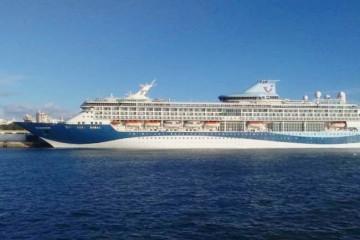 """El buque """"Tui Discovery"""", esta mañana en Cádiz"""