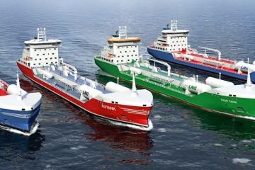 Los cuatro buques son de proyecto nórdico y están en construcción en China