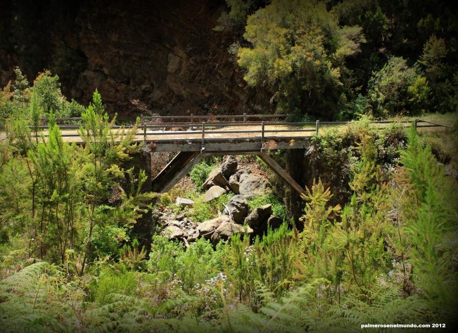 El puente de madera de Roque del Faro fue construido hace 54 años