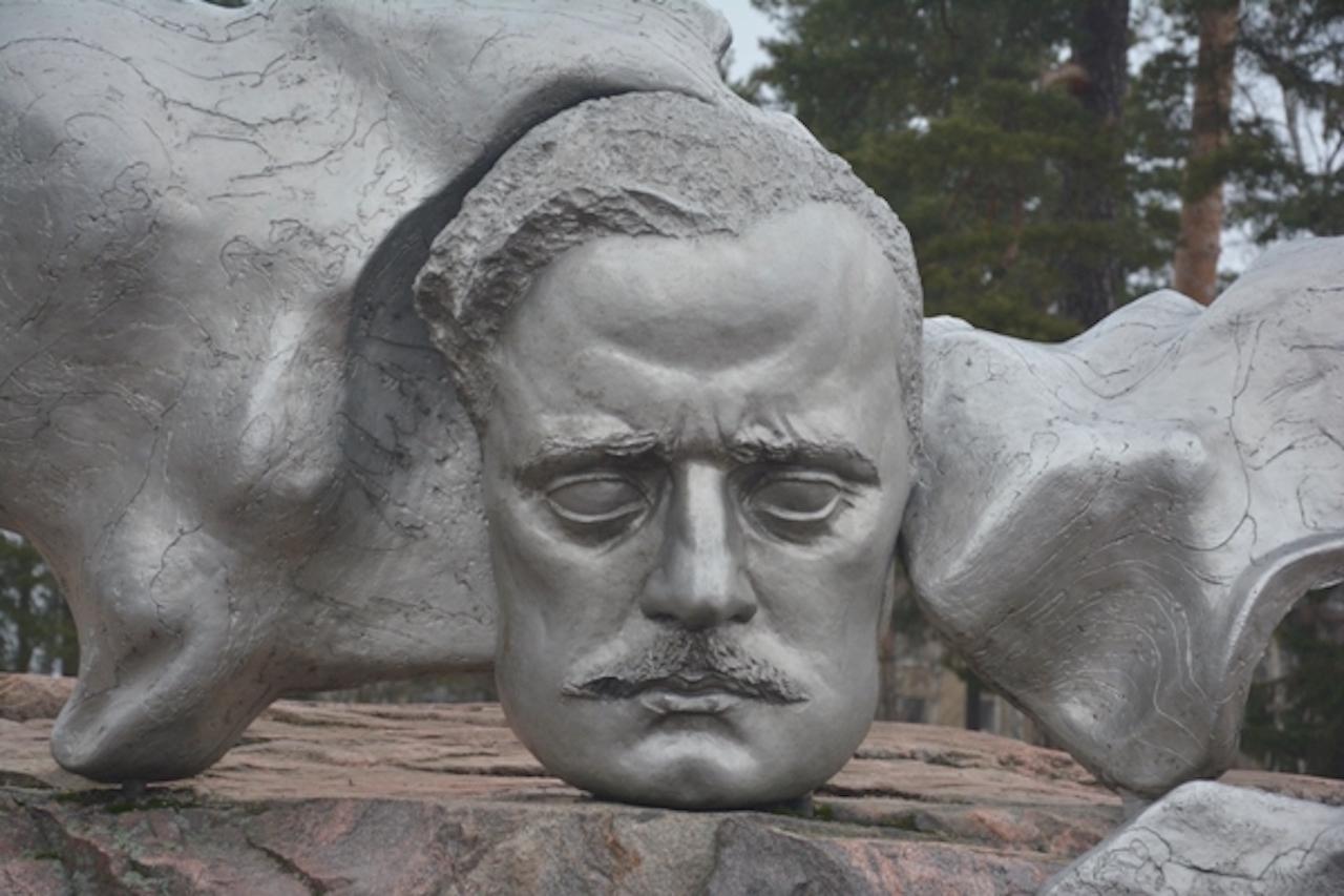El monumento honra la memoria de Jean Sibelius (1865-1957)